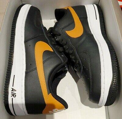 Nike By You Air Force 1 Low ID Black Tan AQ3774-992 Men's 7