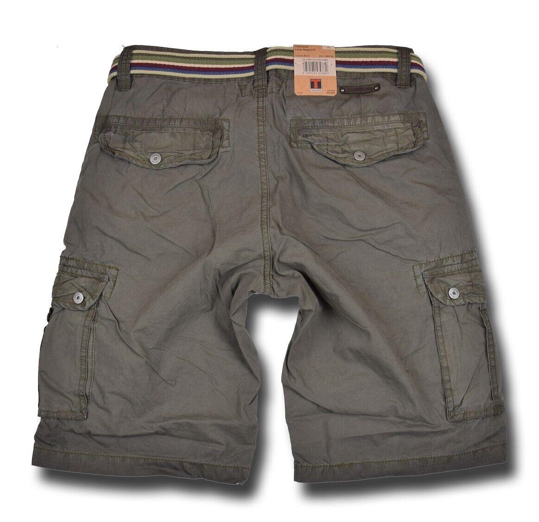 TIMEZONE Cargo Shorts Maguire Pantaloni Corti Bermuda Cargo Shorts Blu Verde Grigio Nuovo