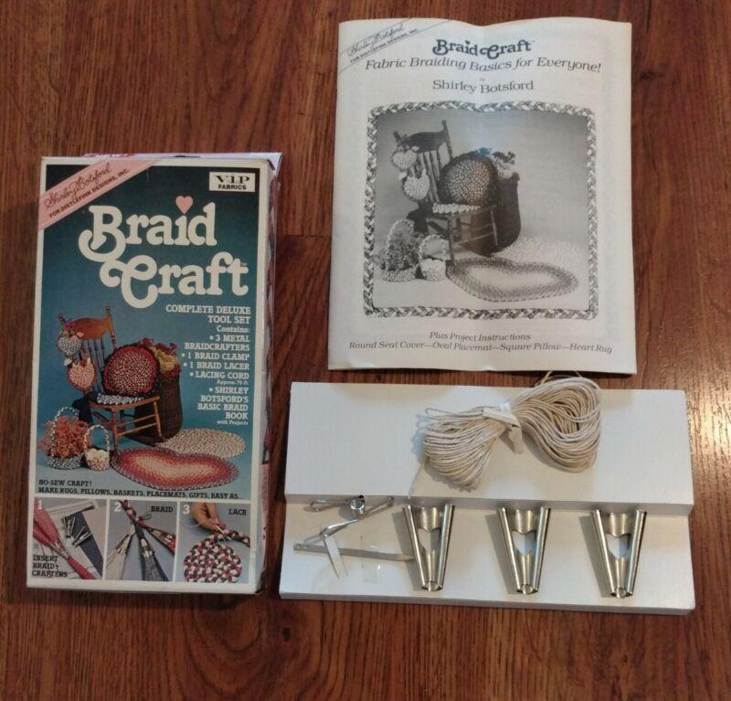 BRAID CRAFT Fabric Rug Making Kit 1980