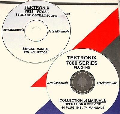 Tektronix Ops Service Manuals For 7633 Oscilloscope 54 Plug-ins