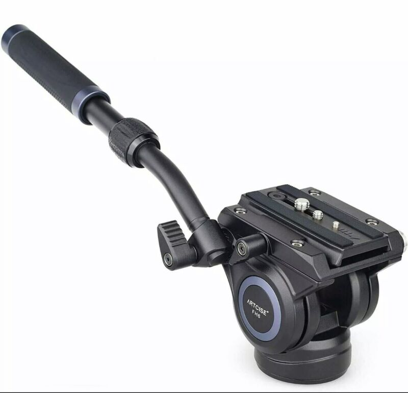 ARTCISE FH6 Video Fluid Head CNC Camera Tripod Head for DSLR Camera Camcorder
