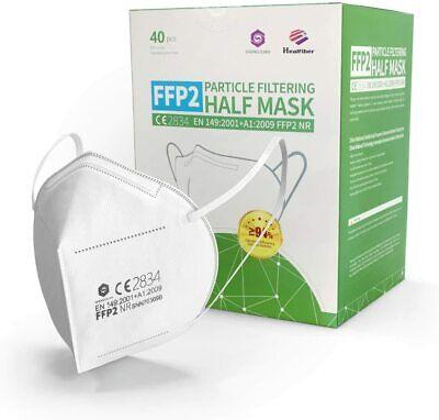 40x FFP2 Masken - CE2834 - EU zertifiziert, geprüft! Blitzversand aus D 40 Stück