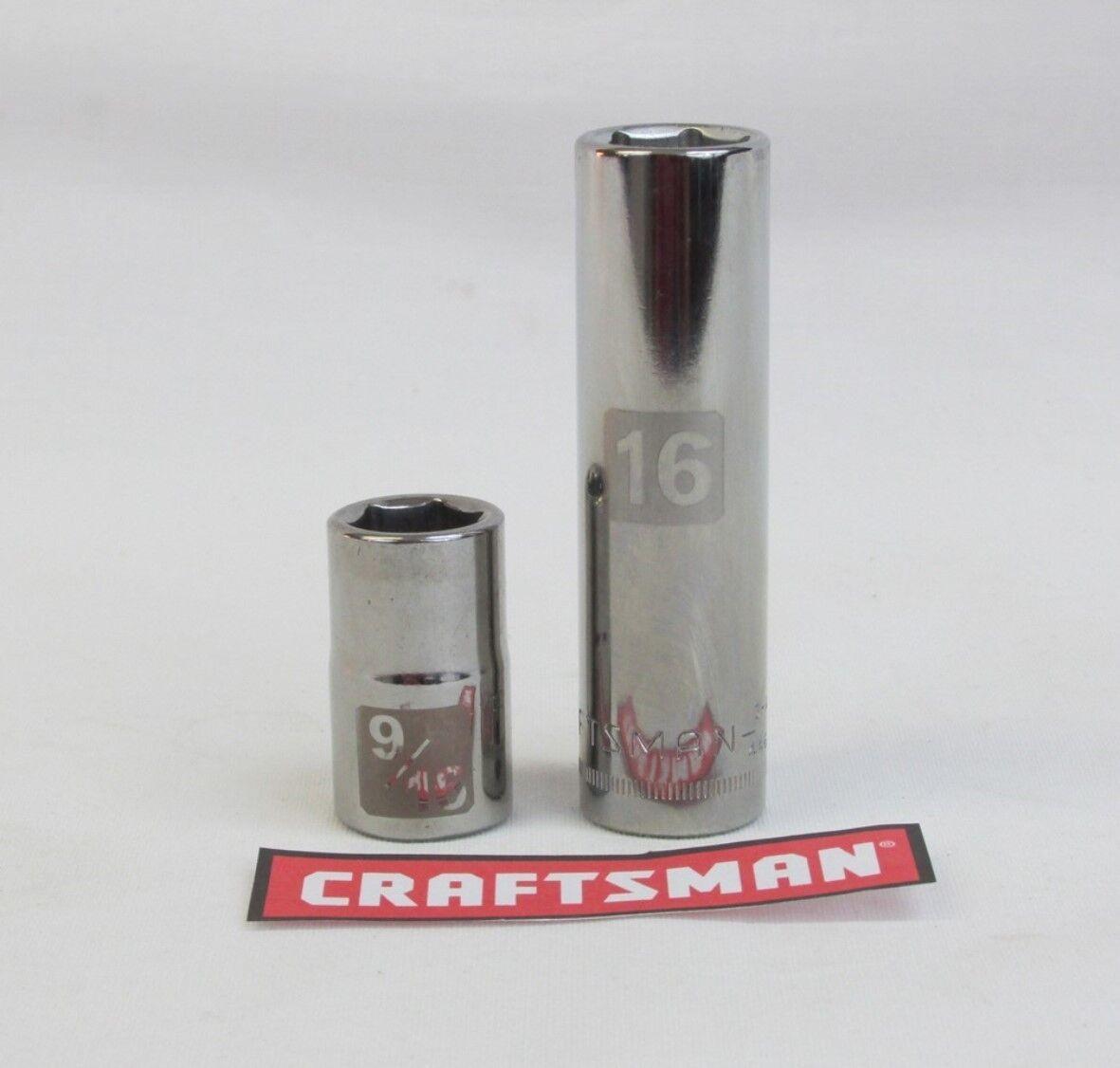 Craftsman Easy Read Socket 6 or12pt MM or SAE 3/8 or 1/2 Dri