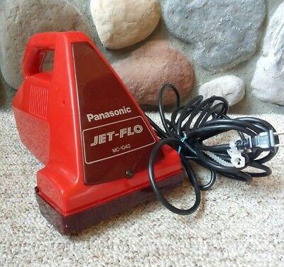 Panasonic Jet-Flo Portable Hand Vacuum MC-1050 Rotating Brush Red Carpet Cleaner ()