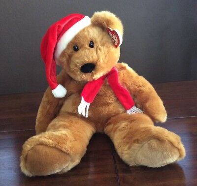 - Ty Extra Large 1997 Holiday Teddy Bear Beanie Buddy HUGE! Santa Christmas