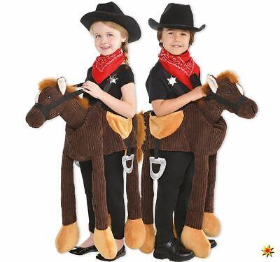 Unisex Kinder Kostüm Tragmich Tier reitendes Pferd Cowboy - Kinder Kostüme Pferd