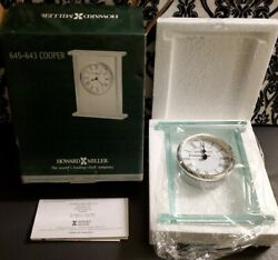 ONE Howard Miller Clock - Cooper 645-643 Glass Table Clock with Battery Alarm