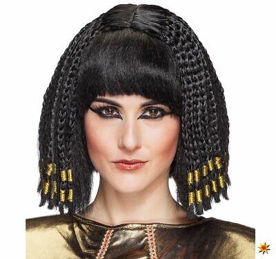 Damen Perücke Cleopatra ägyptische Königin schwarz Onesize - Ägyptische Perücken