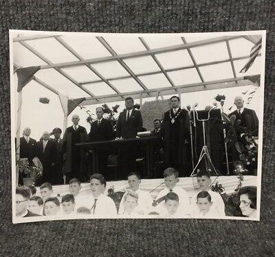 President John F. Kennedy JFK Ireland Original Connacht Press Photo A5