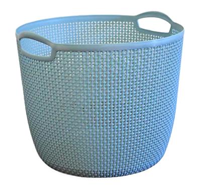 XL Woven Plastic Storage Basket with Handles Sturdy Bin Toys