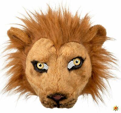 Maske Löwe Löwenmaske Halbmaske Plüsch Onesize Tier - Löwe Kostüm Zubehör