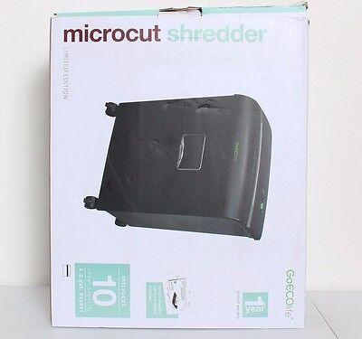 Goecolife 10-sheet Micro-cut Shredder 4x10mm Black Speed 7.0 Fpm 4 Gallon