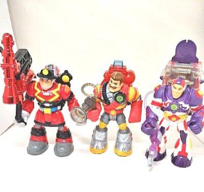 Rescue Heroes Vintage 3 figure lot Sam Sparks Billy Blaze Roger Houston figure