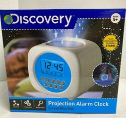 Discovery Projection Alarm Clock Sound Machine Star Projection & Nature Sounds