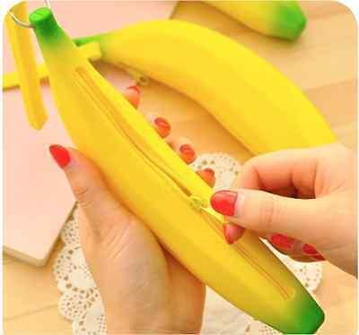 Dulzura Neceser Banana Silicona Fruta Mini Bolso Mujer Estilo Verde Amarillo Neu
