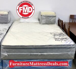 "NEW Queen 60""x78"", 14"" Thick Ultra Firm Euro-top Mattress $600"