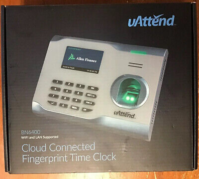 Uattend Bn6400 Biometric Fingerprint Cloud Connected Time Clock New
