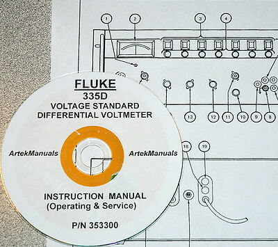 Fluke 335d Voltage Standard Differential Voltmeter Manual Opsserviceschem