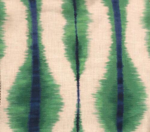 PIERRE FREY Coban Amazone Green Ikat Linen Remnant New
