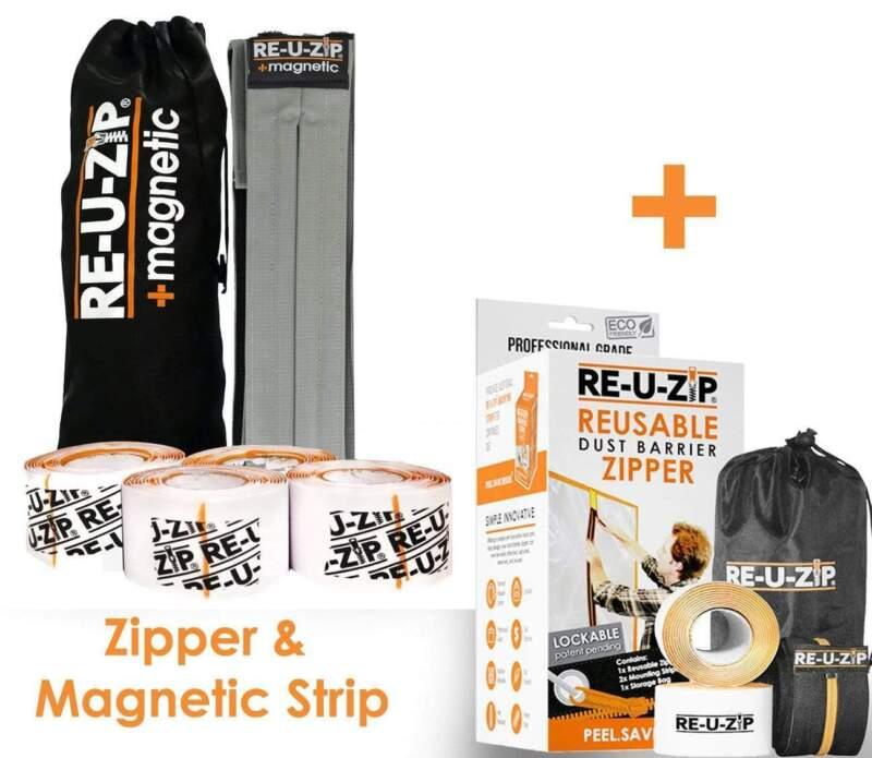RE-U-ZIP Full System Bundle (Magnetic Dust Barrier Entry Strip™ & Zipper)