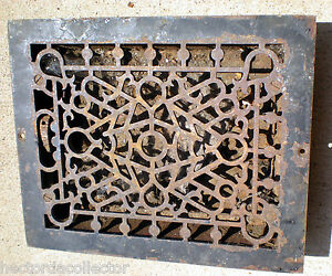 sale antique cast iron louvered floor register heat vent
