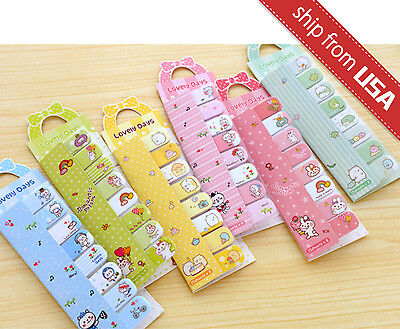 Lot 6 Kawaii Cute Sumikko Gurashi Rabbit Memo Stationery Sticky Notes Index Tab