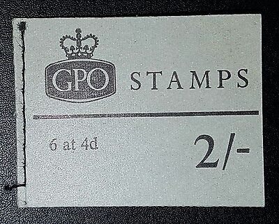 GB QEII Pre Decimal BOOKLET NP34 2/- 6at4d Complete (No291)