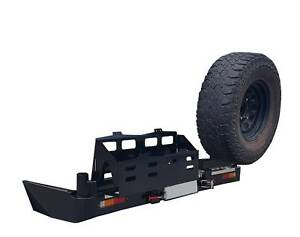 Dual Wheel Carrier Rear Bumper dual jerry can Toyota Nissan