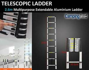 2.6m Multipurpose Telescopic Extendable Aluminium Alloy Ladder $99!!