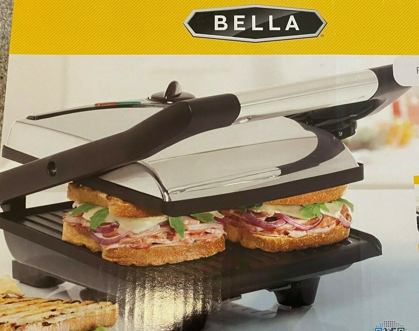 Bella Panini Indoor Electric Grill Bistro at Home Stainless