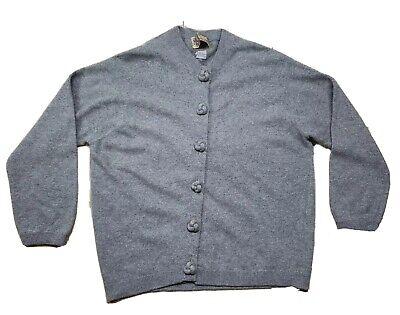 Ballantyne of Peebles Women's Pure Cashmere Gray Button Up Cardigan Scotland