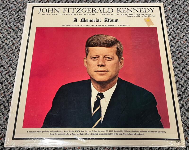 Vintage Original JOHN F. KENNEDY MEMORIAL Record Album 1963 New Sealed