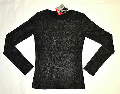 PUMA by HUSSEIN CHALAYAN Long Sleeve Texture Tee T-Shirt Black size XL $65