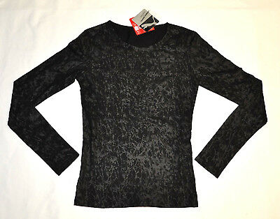 PUMA by HUSSEIN CHALAYAN Long Sleeve Texture Tee T-Shirt Black size L $65