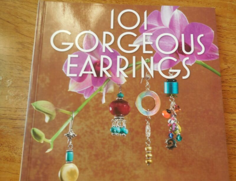 101 Gorgeous Earrings jewelry making book excellent condition
