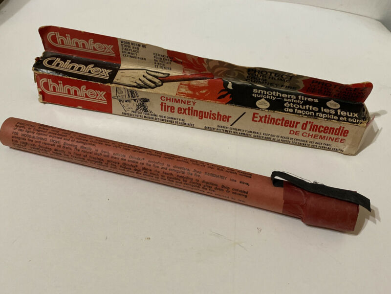 Vintage Chimfex Chimney Fire Extinguisher New Sealed New Old Stock