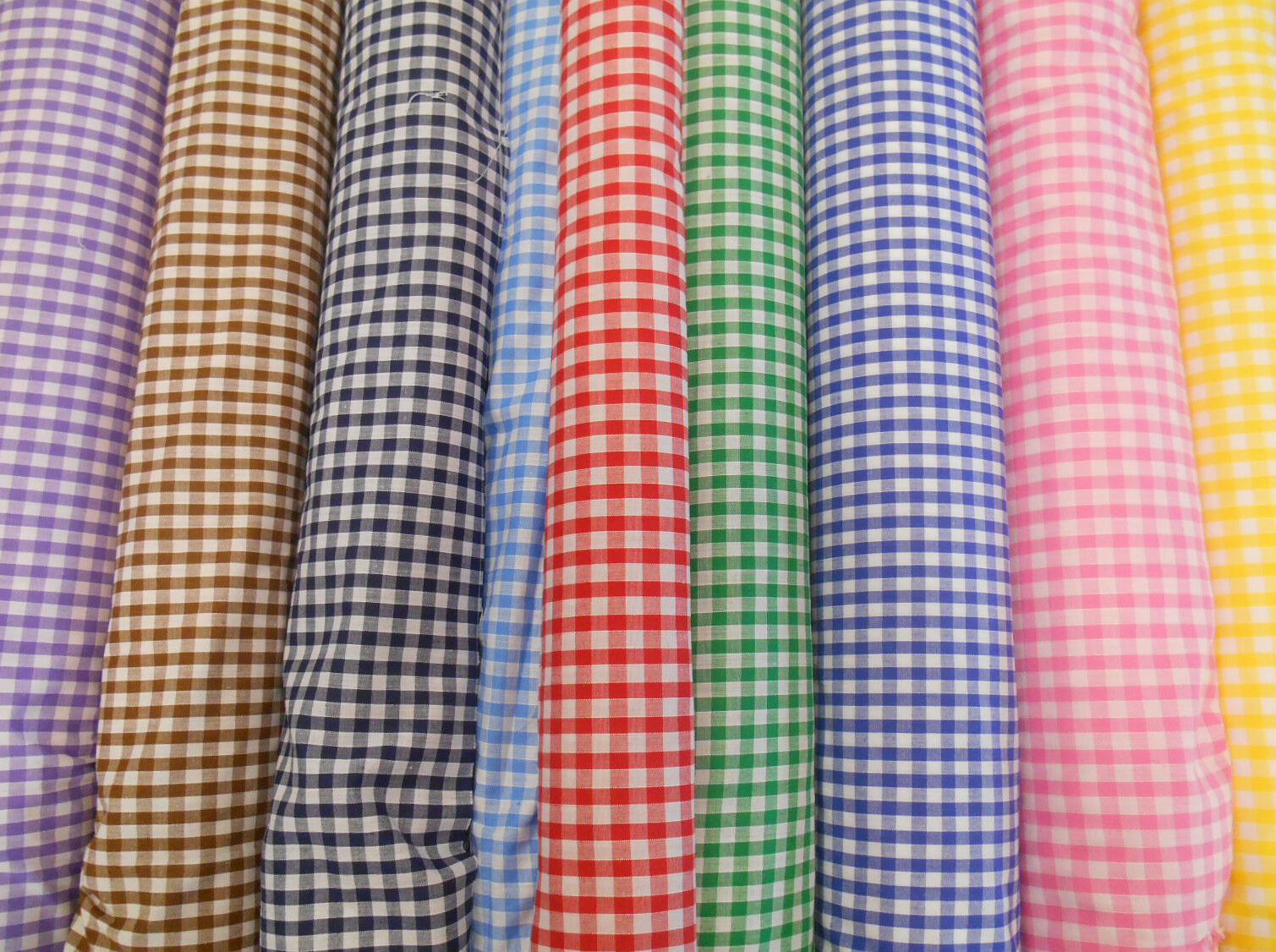 Gingham Check Polycotton Dress Amp Craft Fabric Roll Sold By