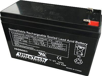 UltraTech 12V 7AH BACKUP BATTERY UT1270 Honeywell Ademco GE DSC Alarm System