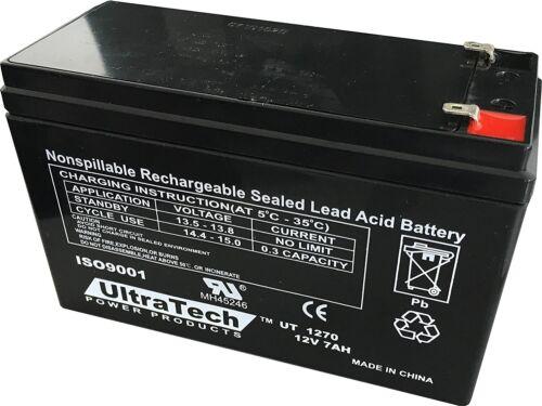 Ultratech 12v 7ah Backup Battery Ut1270 Honeywell Ademco ...