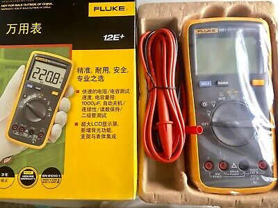 Fluke 12e F12e Digital Multimeter Ac Dc Diode Rc Voltage Current Ohm With Tl75