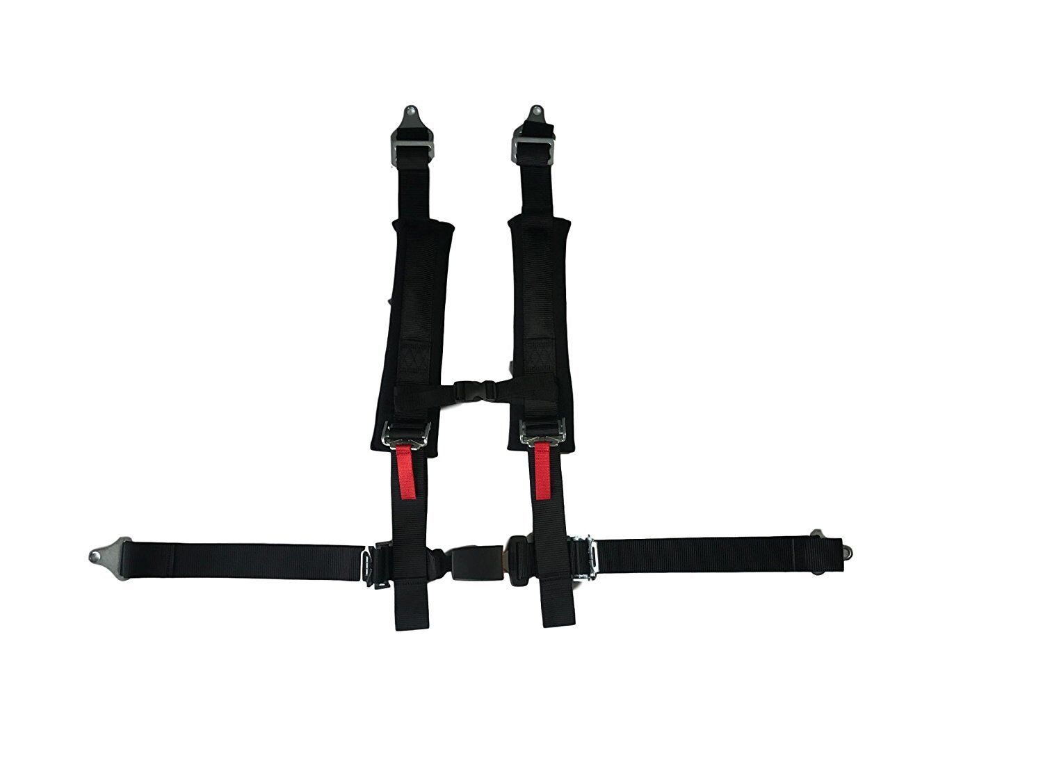 """4 Point 2"""" Padded Off Road Harness w/ Automotive Latch-RZR-Jeep-Sand Car- Buggy"""