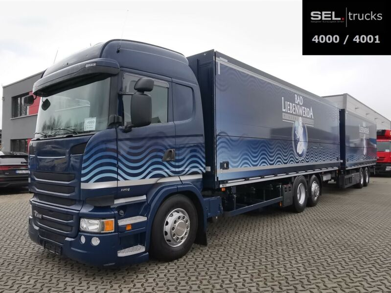 Scania R 410 / Retarder / Lenk-Lift / KOMPLETT+Trailer