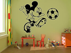 Mickey mouse football kids disney wall stickers art room removable decals diy ebay for Disney wall stickers for kids bedrooms