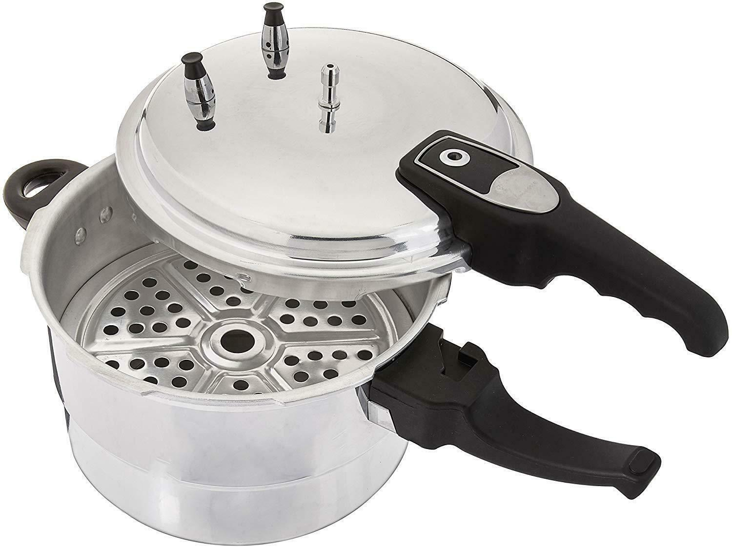 HIGH QUALITY ALUMINUM PRESSURE COOKER WITH STEAMER,4.2/5.2/7