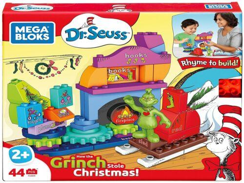 Mega Bloks Dr. Seuss How The Grinch Saved Christmas Builiding Set, 44 Pieces New