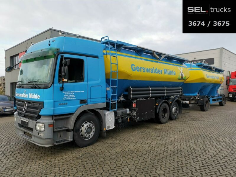 Mercedes-Benz Actros 2544 L 6x2 / 31.000 l / with trailer/SILO