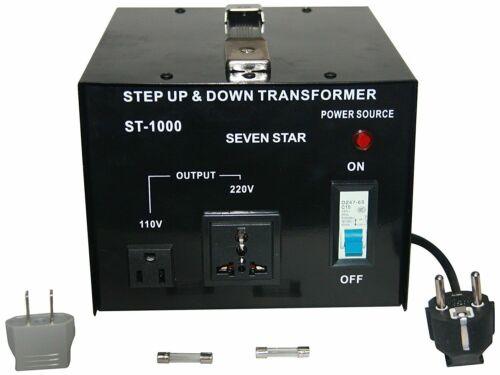 Seven Star ST-1000U/D 110/120/220/240-Volt Step Down Stepup Transformer 1000W