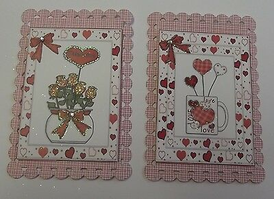 PACK 2 VALENTINES DAY SET 2 TOPPERS  FOR CARDS AND CRAFTS - Crafts For Valentines Day