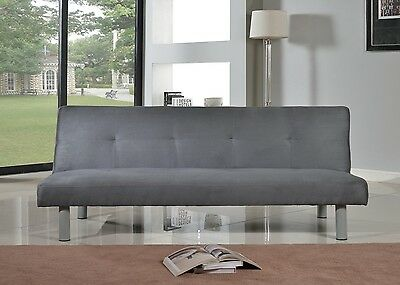 Faux Suede Canterbury Fabric Sofa Bed 3 Seater - Click-Clack Sofa in 4 Colours