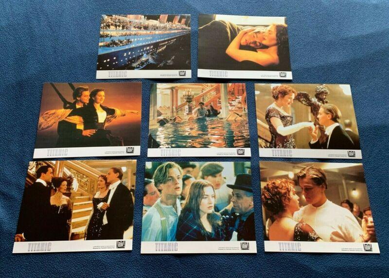 TITANIC 1997 LOBBY CARDS 8x10 set of 8